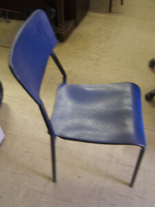 Blue Moulded Plastic Chair