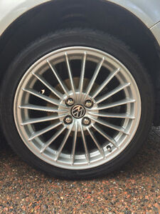 REDUCED PRICE! Full set of Alloy wheels & tires for VW