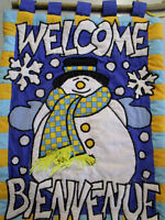 Winter and Christmas Bilingual Snowman & Angel Welcome Banner