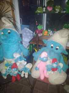12 original smurf stuffies