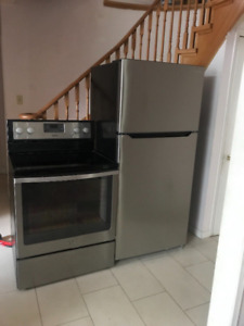 Whirlpool stainless steel stove and fridge for sale