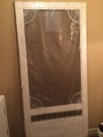BRAND NEW WHITE VINYL SCREEN DOOR