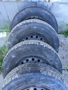 """Two Sets 14"""" Tires and Rims Winter and Summer"""