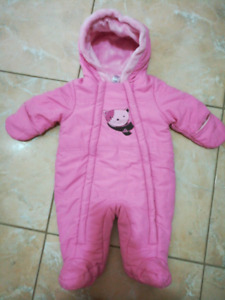 Brand new pink 0-3month snowsuit