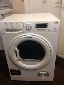 9KG LCD HOTPOINT TUMBLE DRYER WITH GUARANTEE