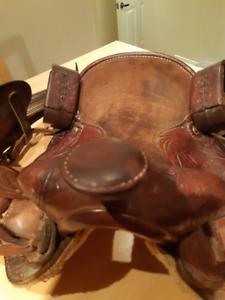 double S open range saddle -original Western Rawhide