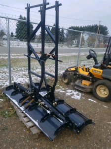 several used plows