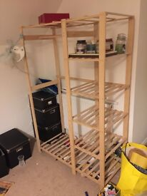 Free clothes rail and display