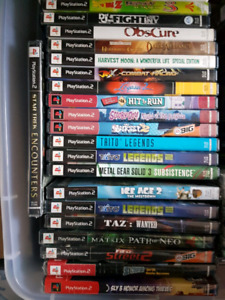 Uncommon PS2 Games! Sealed & Unsealed!