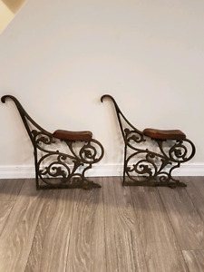 Cast iron bench arms