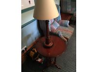 Table and lamp for sale