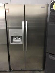 """36"""" Kitchen Aid Double Door Fridge"""