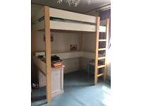 Single loft bed - mattress included