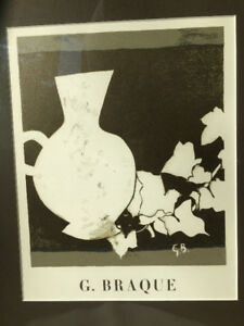Painting, lithograph by famous French artist + custom frame!
