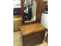 Vintage Bedroom Set, Dressing Table, Chest of Drawers, Wardrobe