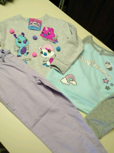 Girls 5/6 Hatchimals & Unicorn top set..ALL NEW WITH TAGS