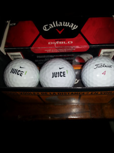 Following 12 balls for sale:
