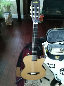 Angel Lopez EC3000CN Electric Solid Body Classical Guitar with C