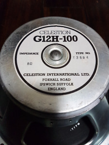 Made in England Celestion G12H-100 8 Ohm Speakers