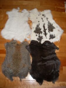 RABBIT SKIN PELT FUR HIDE CRAFT $4, $7, $10, $15, $17
