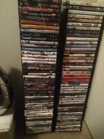 100 DVDs and stands $200