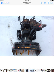 """Poulan Pro 6.0HP 24"""" SNOW BLOWER $300.00"""