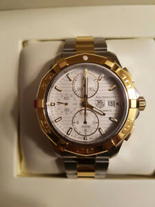 Tag Heuer Aquaracer Two Tone Gold/White