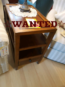 WANTED - 2 END TABLES