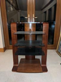 Wood and Glass Hifi Stand