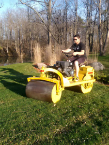 Lawn Rolling and Aerating