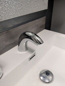 Toto Sensor Faucet with mixing Valve.