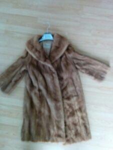Manteau fourrure vison PASTEL   mink fur coat