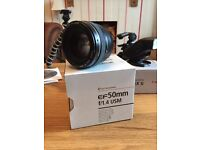 Canon EF 50mm f/1.4 USM perfect condition slr lens