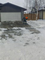 Professional snow clearing crew.