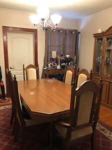 Dining Table & Cabinet