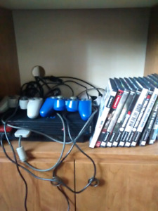 PS2 systems with two controllers and a memory card