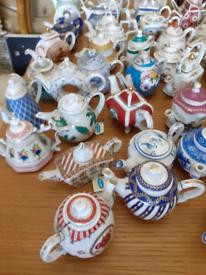 Miniature tea pot collection