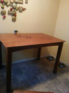 Wooden tall table