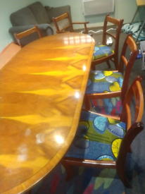 Old Antique table and chairs