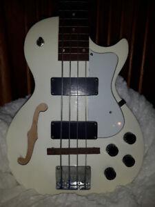 bass Lespaul hollowbody modifier fretless