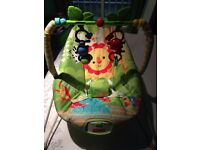 Fisher Price Rainforest bouncer & cot mobile
