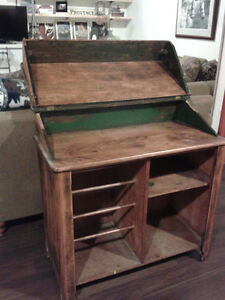 Antique Quebec Dry Sink - with some original green paint