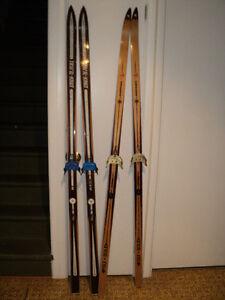 skis de bois