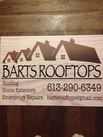 BARTS ROOFTOPS now booking contracts at discount rates!