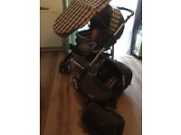 Silver cross travel system -pink & grey