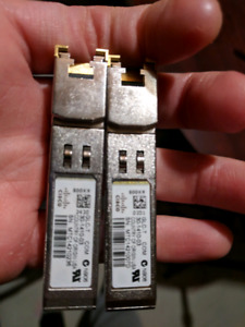 2x Cisco 1GB (1000mbps) GLC-T Tranceivers