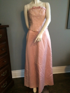 Pink Prom Strapless Size 8 Dress gown NEW WITH TAGS w/ extras