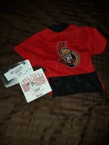 NEW! Dog Ottawa Senators Jersey. Fits size 3-5 lbs.
