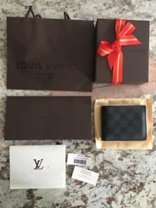 Louis Vuitton Slender Wallet in Damier Graphite