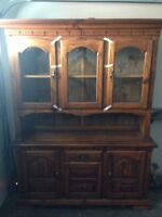 FS dining room table and chairs and hutch